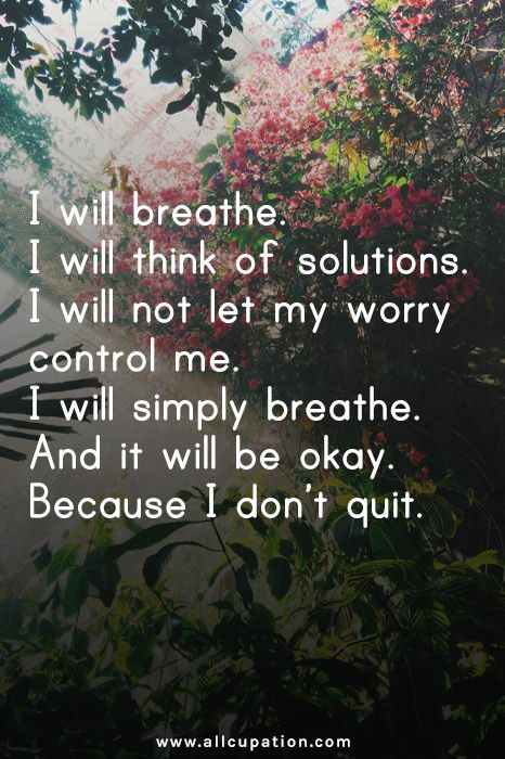 okay don't quit worry